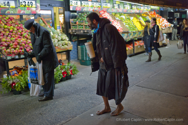 Barefoot Homeless NYPD