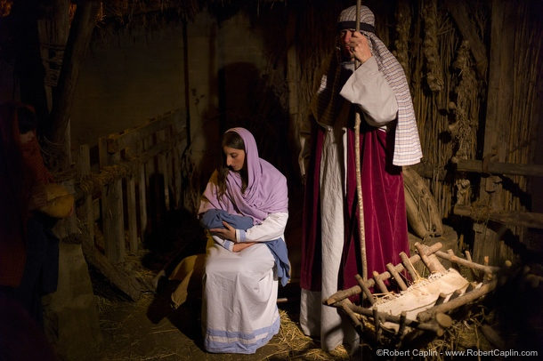 Real Human Nativity Scene in Linyola, Spain. </p><br /> <p>Photo © Robert Caplin